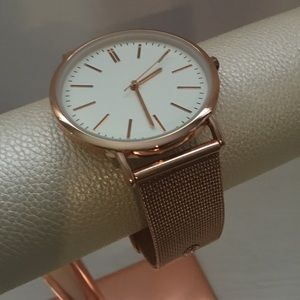 Francesca's Simple Rose Gold Watch